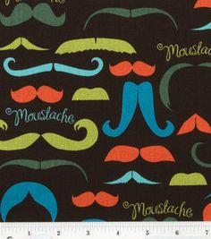 Novelty Cotton Fabric- Moustaches Allover: novelty quilt fabric: quilting fabric & kits: fabric: Shop | Joann.com