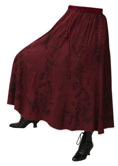 Swirl Skirt - Burgundy