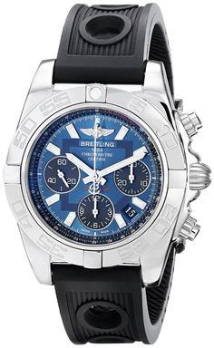 Top men watches Breitling Men's AB014012-C830RU Analog Display Swiss Automatic Black Watch