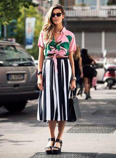 Street Style Midi Skirt Flatform