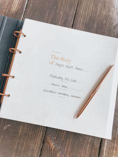The baby book of my dreams - Monica Lee Pregnancy Scrapbook, Baby Scrapbook, Baby Milestone Book, Best Baby Book, Baby Book Pages, Baby Diary, Baby Record Book, Baby Records, Accordion Book