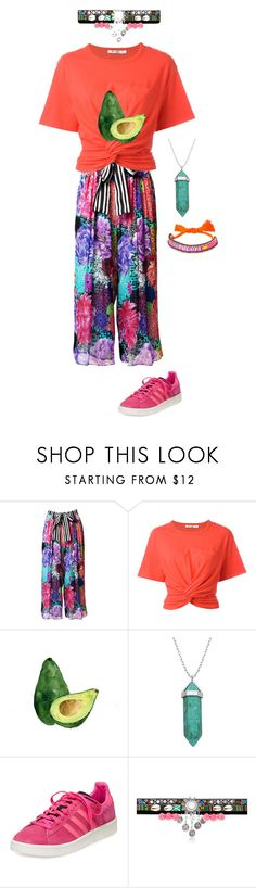 """""""Cancun #3"""" by olgon ❤ liked on Polyvore featuring T By Alexander Wang, Lord & Taylor, adidas and Shourouk"""