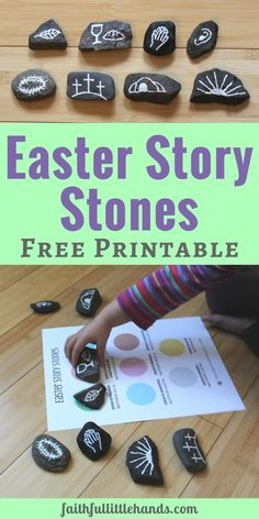 Easter Story Stones and Sequencing Printable