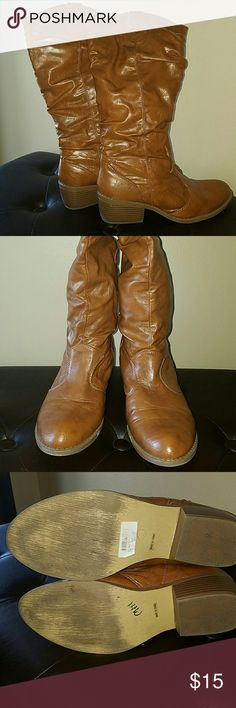 Leather boots Gently used Whitney Shoes Combat & Moto Boots