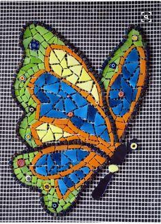 ideas about Mosaic Patterns Paper Mosaic, Mosaic Tile Art, Mosaic Artwork, Mosaic Crafts, Mosaic Projects, Mosaic Glass, Mosaic Ideas, Easy Mosaic, Butterfly Mosaic