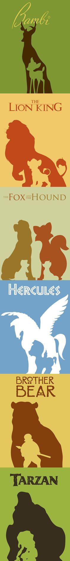 Negative form in Disney minimalist poster