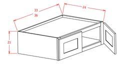 "21"" High Refrigerator Wall cabinets-Double Door"