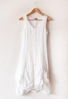 White Linen Gauze Dress