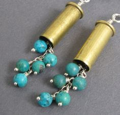 Bullet Casing Earrings  22 Caliber Casings by HighImpactDesigns, $25.00