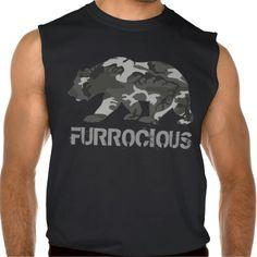 Furrocious Camo Bear Sleeveless T-shirts Tank Tops