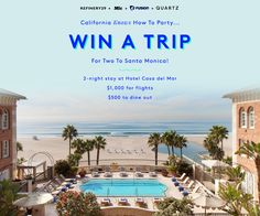 California Knows How To Party... Win A Trip For Two To Santa Monica!  Enter now: http://r29.co/28IvZPL http://r29.co/29gYGFQ