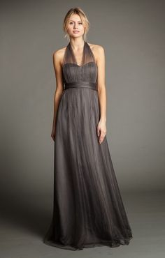 50 Shades of Grey (Bridesmaid Dresses) Featuring dresses by: Jenny Yoo, Monique Lhuillier, Peter Langner + Rick Owens Grey Bridesmaid Dresses, Wedding Bridesmaid Dresses, Bridesmaids, Annabelle Dress, Girls Dresses, Prom Dresses, Formal Dresses, Maid Of Honour Dresses, Convertible Dress