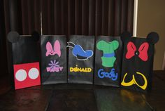 cute idea for giveaway bags so everyone feels includedBoys and Girls Mickey Mouse Crafts, Mickey Mouse Bday, Mickey Mouse Clubhouse Birthday Party, Mickey Mouse Parties, Mickey Party, Mickey Mouse And Friends, Mickey Mouse Birthday, Disney Crafts, Mickey Minnie Mouse