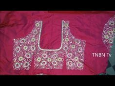 Making of Vanky Design On PATTU Blouse - Maggam work Blouse making - Aari work - YouTube