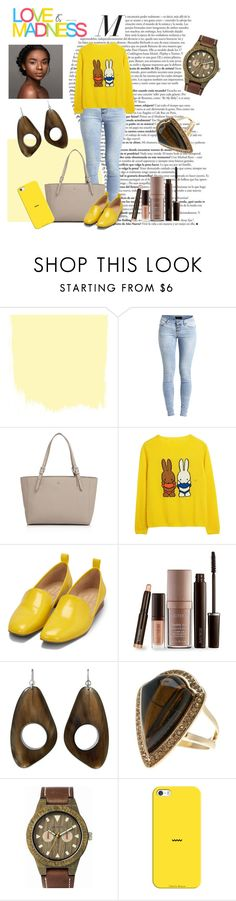 """""""Untitled #240"""" by riuk ❤ liked on Polyvore featuring Object Collectors Item, Tory Burch, Bill Blass, Laura Mercier, Free Press, WeWood, Love Quotes Scarves and Casetify"""