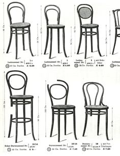 Thonet chair posters by Emiliano Godoy