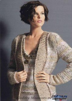 Пуловер и жакет «Мелодия вкуса». Вязаные спицами и крючком   Блог elisheva.ru
