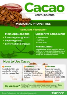HerbaZest: Infographic Cacao. Are you looking for a rich, tasty sensation that is ram-packed full of antioxidants? Luckily Cacao, the source of chocolate, is full of nutrients that can lower risk of heart attack! Learn more about the health benefits of raw cacao in the following infographic by clicking on the image. Tags: #HerbaZest #Infographic #Cacao #Chocolate #Benefits