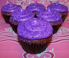 "Glitterbomb CupCakes??? We have noticed that this has been trending recently and they are super cute, unfortunately a lot of the photos we have been seeing have REAL glitter on them....it is NOT edible. So to help with those looking to create the same type of CupCakes here is our tip: Buy Sanding Sugar in the same color as your frosting, it will give the cupcakes the ""Glitter"" effect AND it's edible!! www.CupCakeFabuLous.com"