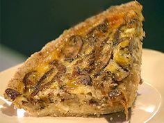 Caramelized Onion, Mushroom and Gruyere Quiche with Oat Crust Recipe : Ellie Krieger : Food Network - FoodNetwork.com