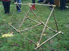 I'm a teacher, get me OUTSIDE here!: Outdoor Maths: Creating 3D Shapes from Sticks