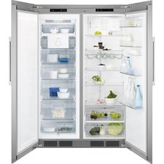 Electrolux EAK6789AOX Integrated stainless steel side-by-side food centre. A+ energy rated. DImensions w120, h1850, d620