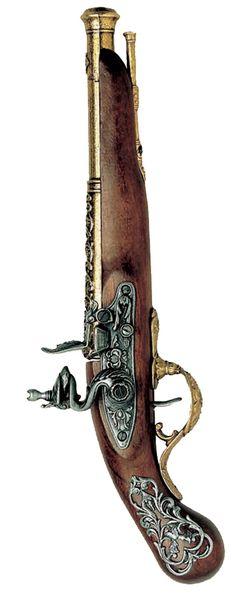 English-18th-century-flintlock-pistol