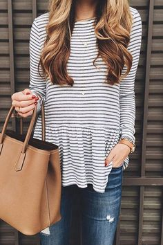 For stripe lovers. This top is everything you've ever dreamed for
