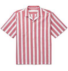 Stella Mccartney Men Striped Shirt on YOOX. The best online selection of Striped Shirts Stella Mccartney. Seventies Fashion, Stella Mccartney, Men Casual, Stripes, Street Style, Mens Fashion, Mens Tops, Cotton, Men's Shirts