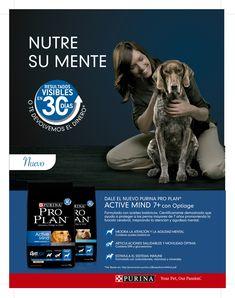 Pro Plan Active Mind con Optiage, que en tan sólo 30 días generará cambios en los perros mayores a 7 años.