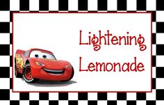 Disney Cars Birthday Party Food Labels by AllAmericanCreations, $20.00
