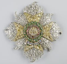 Star of the Order of the Bath, circa 1840, by Kitching & Abud.  Made for Prince Albert, consort of Queen Victoria.
