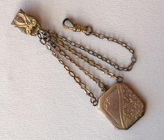 Antique Châtelain Watch Fob Locket Gold Toned Victorian.via Etsy.
