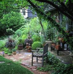 highlight water features and special garden aspect. - 6 DIY Pergola Patio Ideas … highlight water features and special garden aspects. Small Courtyard Gardens, Small Gardens, Outdoor Gardens, Pergola Garden, Diy Pergola, Backyard Retreat, Small Backyard Landscaping, Unique Gardens, Beautiful Gardens