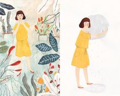 The Lonely Raincloud - katie harnett illustration