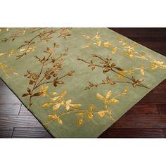 Alliyah Handmade Green New Zealand Blend Wool Rug (5' x 8') | Overstock.com Shopping - The Best Deals on 5x8 - 6x9 Rugs