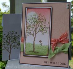pinterest branch out stampin up | Blushing Branch Out card by LeisaJane
