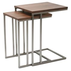 Found it at Wayfair - Wallick 2 Piece Nesting Tables  - $428