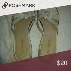 d622b25ad Shop Women s Danelle White size 10 Sandals at a discounted price at Poshmark.  Description  Small heel size Sold by poshmarklv.