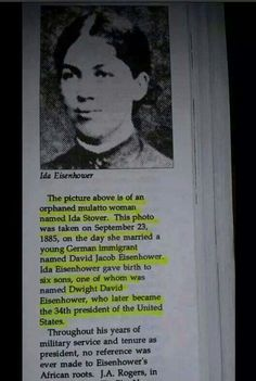 Black history feature of the day: that dwight eisenhower and some other famous people were black? Black History Facts, Black History Month, Strange History, Kings & Queens, Dwight Eisenhower, What Is The Secret, Looks Black, Interesting History, Interesting Facts