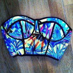 Tropical fluro bikini h