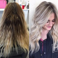 "9,452 Likes, 89 Comments - OLAPLEX (@olaplex) on Instagram: ""Rooty yellow to dimensional ash blonde!  Color by Marissa Madsen @hairbymarissasue with Olaplex…"""