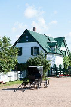 C'est la maison Anne of Green Gables à l'Île -du-Prince -Édouard. Il est une attraction populaire .