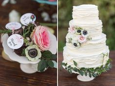 cake - flower/greenery placement <3