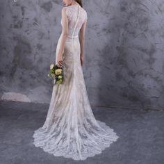 Boho Wedding Gown | Abigail Boho Soft Lace Wedding Gown