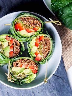 collard wraps as my raw vegan recipes for the week
