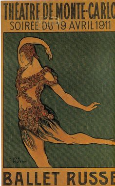 """Affiche pour """"Le Spectre à la rose"""" (1911), dessin de Jean Cocteau by Yvette Gauthier, via Flickr"""