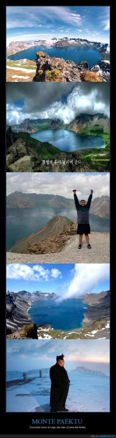 MONTE PAEKTU - Conocido como el Lago del cielo (Corea del Norte)