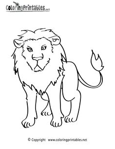 Lion Coloring Page   A Free Animal Coloring Printable