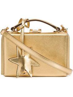 MARK CROSS 'Grace' box shoulder bag. #markcross #bags #shoulder bags #leather #